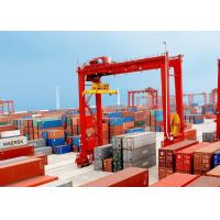 Buy cheap Loading And Unloading Container Lifting Crane , RMG Rail Mounted Gantry Crane product