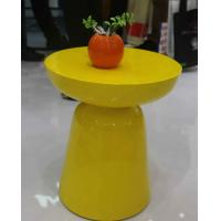Buy cheap Yellow Arcylic Round Metal Coffee Table Small Indoor Customizable SGS product