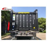 Buy cheap 3 Axles 40ft Tipping Skeletal Container Trailer Chassis For Container Dump Discharge product