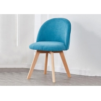 China Avant Garde Beech Multi Colored Dining Room Chairs Flannel Soft Cushion Design on sale