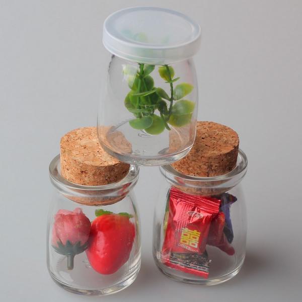 mini empty pudding milk glass bottle mason jars wholesale with cap 101227449. Black Bedroom Furniture Sets. Home Design Ideas