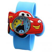 Buy cheap Lovely Cute Silicone Quartz Kids Watch With Car Shaped Dial Customized Logo product