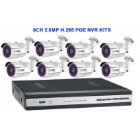 Buy cheap 8CH 2.0MP H.265 POE NVR KITS With Waterproof Bullet IP IR Camera from wholesalers