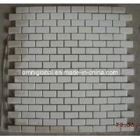 Buy cheap Pure White Marble Stone Mosaic Tile/ Wall Tile/ Floor Tile (Small Brick Pattern) product