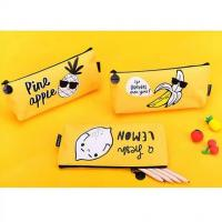 Buy cheap Cartoon Kids Student Pencil Pouches Polyester , Zipper Pencil Case Bag Yellow product