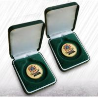 Buy cheap Green Flocking Jewelry Velvet Box Coin Boxes Flocked Coins Packing For Ceremony from wholesalers