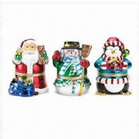 Buy cheap Resin Christmas Music Box Figurines, Christmas Decoration product