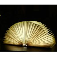 Buy cheap PU Cover 360 Degree Adjustable Rechargable Book Shape Light For Gift product