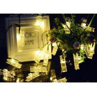 China Clip Shaped Solar Powered String Lights Hanging Photos For Wedding / Party on sale