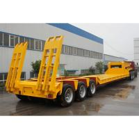 Buy cheap Low Bed 4 Axle Heavy Duty Lowboy Truck Trailer / Container Diesel Semi Tractor product