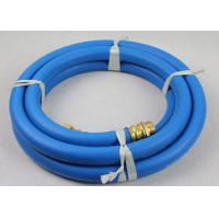 "50ft Length ID 3/4"" Reinforced Water Hose with 3/4"" Nickle plated Brass Fittings"