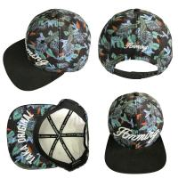 Buy cheap Dark Green Leaf 5 Panel Camper Hat With Logo Printed Korean Style product
