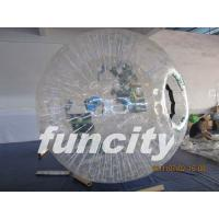China 1.0mm TPU material Transparent Inflatable Grass Zorbing Ball with Soft Cushion on sale