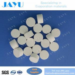 Cubra con cinc la pureza elevada 99,99% ZnS del sulfuro para el diámetro 10*6m m de las tabletas de ZnS de los materiales de la evaporación del vacío