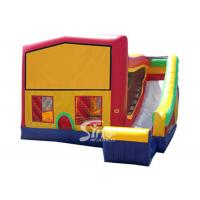 Buy cheap PVC Tarpaulin Inflatable Bounce Houses With Slide Multifunctional product