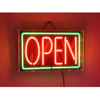 Buy cheap Illuminated Bright LED Open Sign Double Sided Indoor Window Display Green Red product