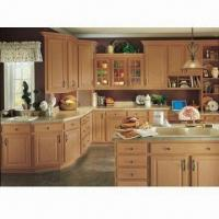 Kitchen cabinet with beech solid wood raised door nc for Beech wood kitchen cabinets