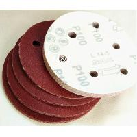 Buy cheap Round Sand Coarse Medium Grit Sandpaper , 6 Holes Hook And Loop Sanding Disc product