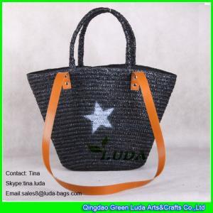 Buy cheap La paja del trigo del negro del bolso de compras de la paja de la señora de la moda de LUDA empaqueta al por mayor product