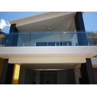 Balcony Transparent Tempered Railing Glass 12mm Thickness No holes