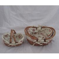 Buy cheap willow basket fruit gift basket drawing empty product