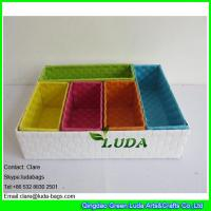 China LDKZ-044  Fasion steel frame storage box pp strap woven storage basket for organization on sale