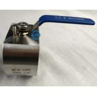 Wafer End Forged Steel Ball Valve DN15 - DN50 Size Wafer Ball Valve Long Service Life