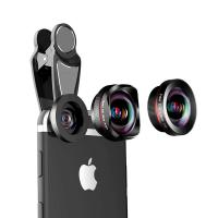 Buy cheap 16MM 4K HD No Distortion Wide angle 15x macro  198 fisheye 3 in 1 mobile phone lens product