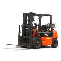 Buy cheap Comfortable Dual Fuel Gas Forklift Truck , 2 Ton High Reach Forklift Low Pollution product