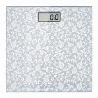 China Electronic Body Scale with 180kg/400lbs Maximum Capacity and 6mm Tempered Safety Glass Platform on sale