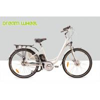 China Lady City Electric Bicycles Cruising Bike 700C Electric Front Wheel Gear Motor roller brake wholesale