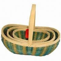 China Spring Series Wood Baskets for Fruit and Storage Use on sale