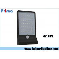 China 6.2V LED Work Lights / 42 LED White Led Solar Wall Light With Human Body Sensor on sale