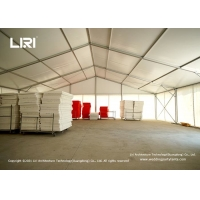 Buy cheap Water Proof PVC Walls Aluminum Frame Warehouse Tent Industrial Storage Usage from wholesalers