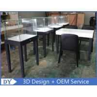 Wholesale large quantity modern fashion simple wooden gray color exhibition display cases with lock