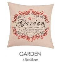 China Angel Garden Printed Car Couch Cushion Covers Cozy With Side Zipper on sale