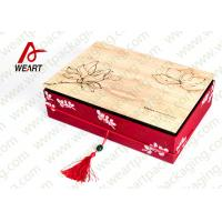 China Special Handle Christmas Cardboard Gift Boxes , Beautiful Corporate Gift Packaging Boxes on sale