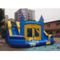 Buy cheap Commercial inflatable bouncy castle with double slide and removable banner product