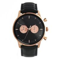 Buy cheap Custom Stainless Steel Chronograph Watch 40x11mm Crocodile Leather Watch product