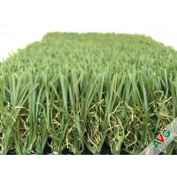 Buy cheap Durable Four Tone 12400Dtex / 8f Hybrid Wave Outdoor Artificial Grass With W Circle And S Wing Blade product