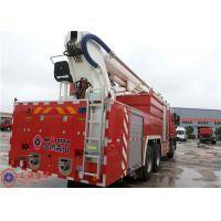Buy cheap Benz Chassis Water Tower Fire Truck Max Power 320KW Hydraulic System Pressure 20MPa product