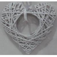Buy cheap White color heart shape with a wicker heart inside willow rattan hanging home deco product