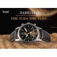 Quality Jargar Genuine Leather Band Geatlemen Mens Automatic Watch Black Dial for sale