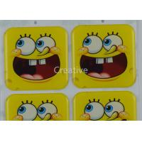 Funny CMYK Offset Printing Epoxy Dome Cartoon Stickers For Kids