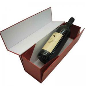 boîtes en carton simples pliables de vin de bouteille de 12 * 4 * 4,5 pouces avec la stratification mate