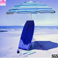 Buy cheap Windproof Folding Sun Beach Umbrella With Vented Tilt Telescoping Pole from wholesalers