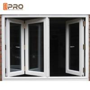 Buy cheap Dust Resistance Double Glazed Windows / Aluminum Folding Windows product