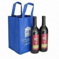 Nonwoven fabric wine bag with 4 compartments for 4 bottle for Wine bottle material