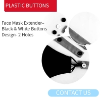 Buy cheap Face Mask Extender 2 Holes 26mm Black Clothing Buttons product