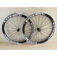 Buy cheap OEM carbon alloy wheel clincher 50mm bicycle wheels with alloy braking surface product